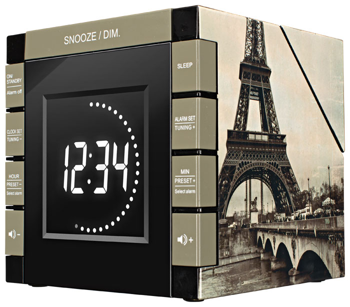 "Radio Alarm Clock Projector ""Paris"" - Image   #4"