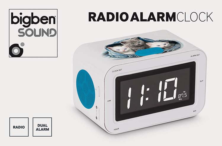 RR30 Clock Radio (Kitties) - Bundle