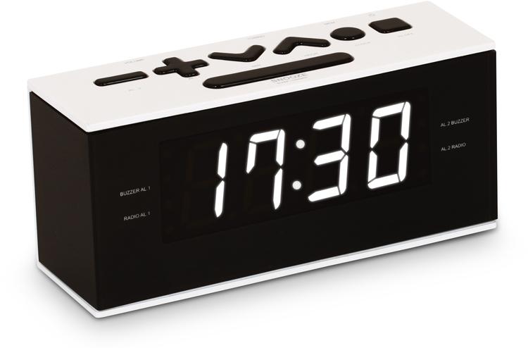 Dual alarm clock (White) - Packshot