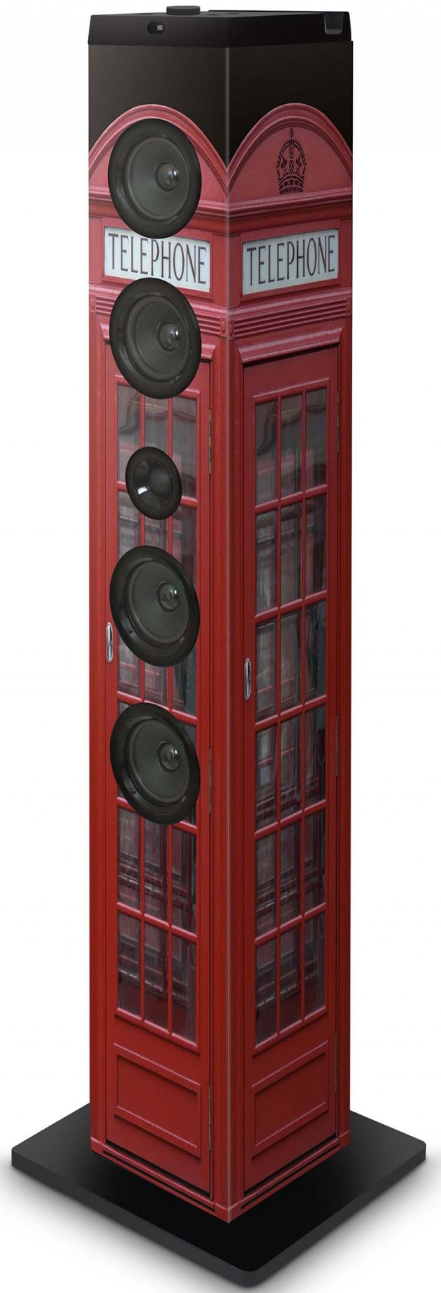 "Multimedia tower ""British cab"" - Packshot"