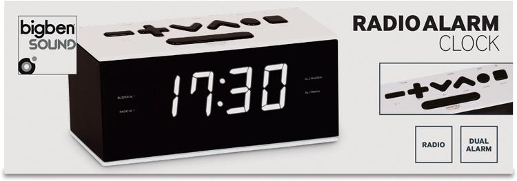 Dual alarm clock (White) - Image