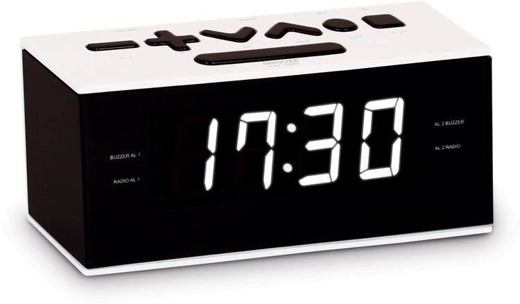 Dual alarm clock (White) - Image   #1