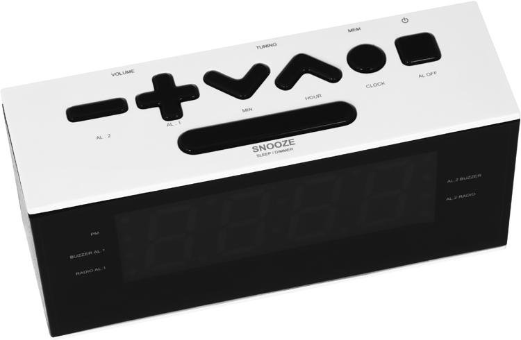 Dual alarm clock (White) - Image   #2