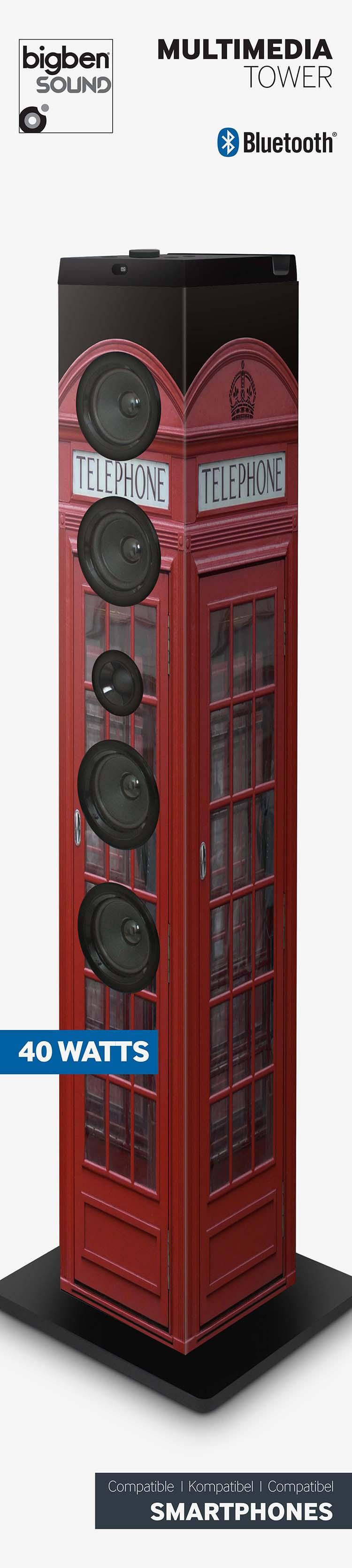 """Multimedia tower """"British cab"""" - Image   #2"""