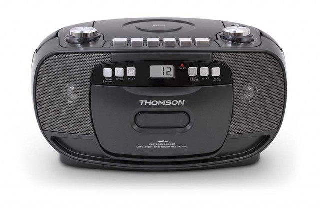THOMSON Portable CD/Tape Radio (Black) - Packshot