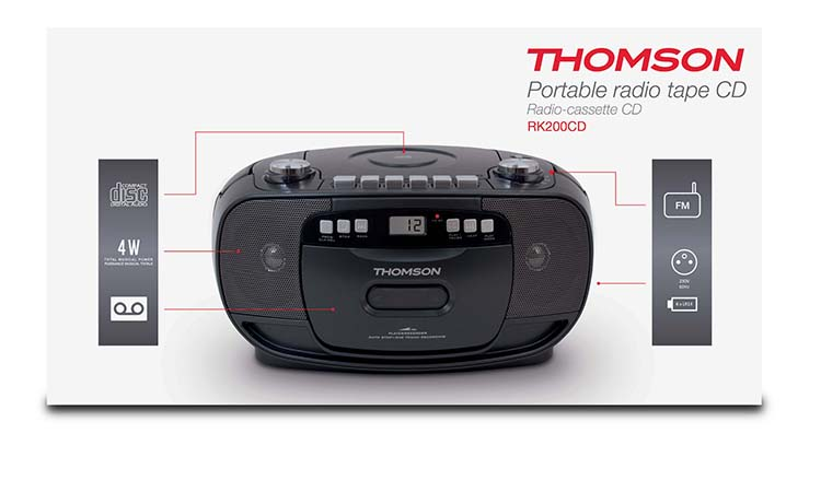 Wondrous Portable Cd Tape Radio Black Rk200Cd Thomson Bigben En Audio Wiring 101 Archstreekradiomeanderfmnl