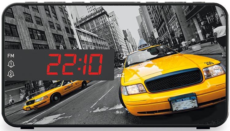 Dual alarm clock Taxi - Packshot