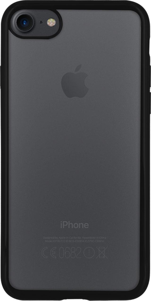 Semi-rigid case clear and metal contour (black) - Packshot