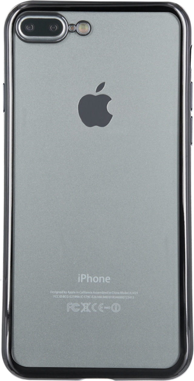 Semi-rigid case clear and metal contour (grey) - Packshot
