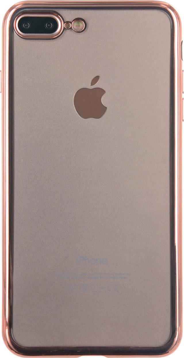 Semi-rigid case clear and metal contour (pink) - Packshot