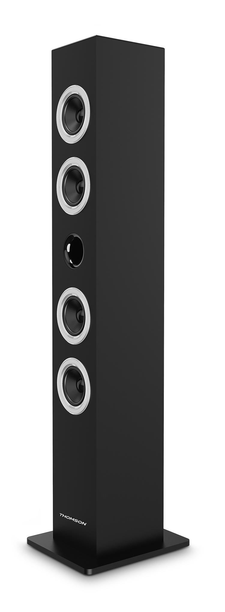 Multimedia tower / CD player (black) - Packshot