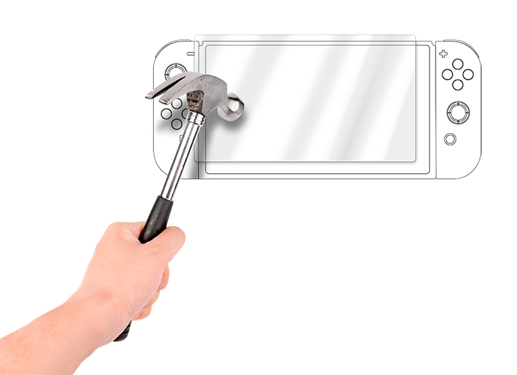 Temepered glass screen protector film for Nintendo Switch™ tablet - Image  #1