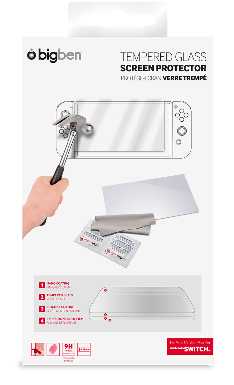 Temepered glass screen protector film for Nintendo Switch™ tablet - Image  #2tutu#4tutu
