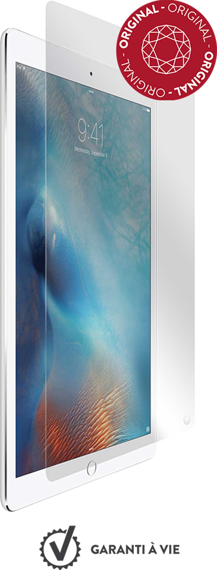 The tempered glass screen protector FORCE GLASS for iPad Pro 12.9 - Packshot