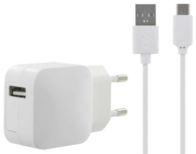 AC adaptor for smartphones and tablets with USB C - Packshot