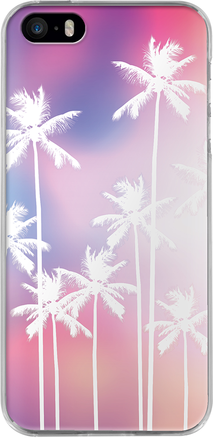 Hard case (Pink holographic plam tree) - Packshot