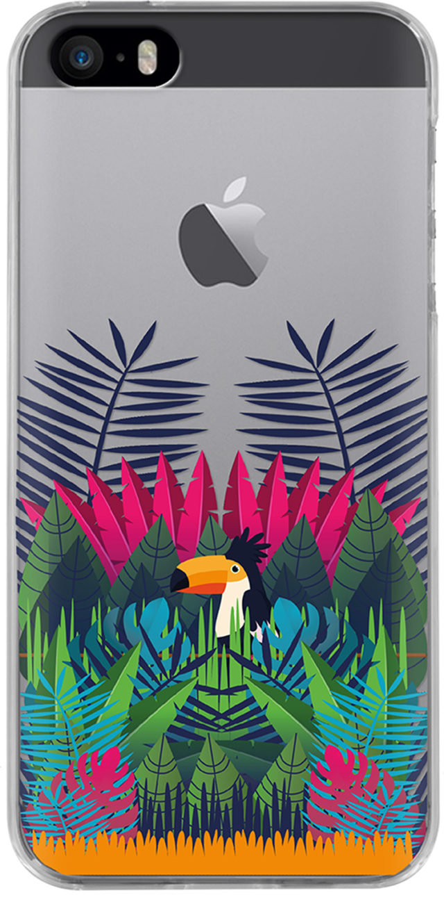 Semi-rigid case (multicolored Amazonia) - Packshot