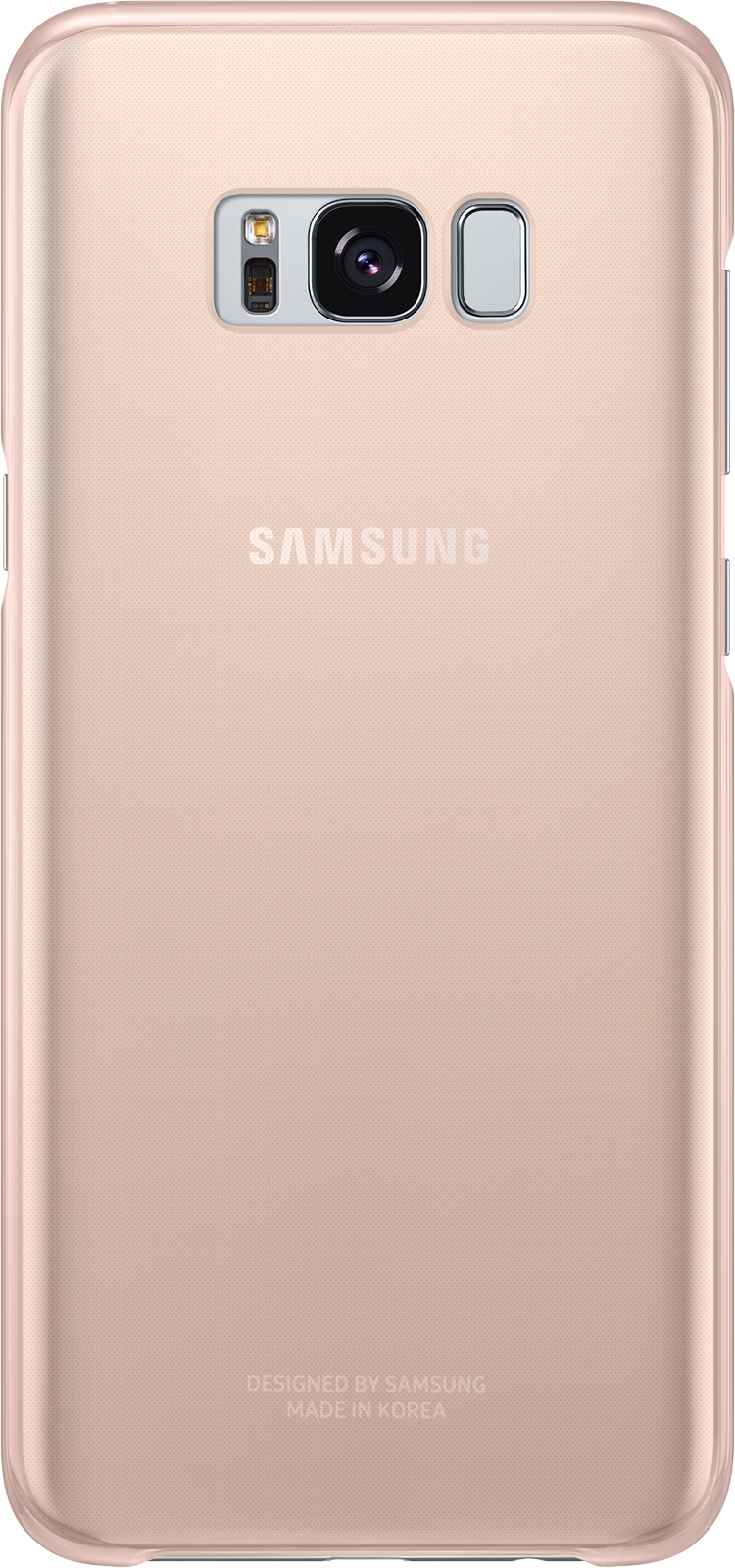 Semi-rigid case Samsung (clear pink) - Packshot