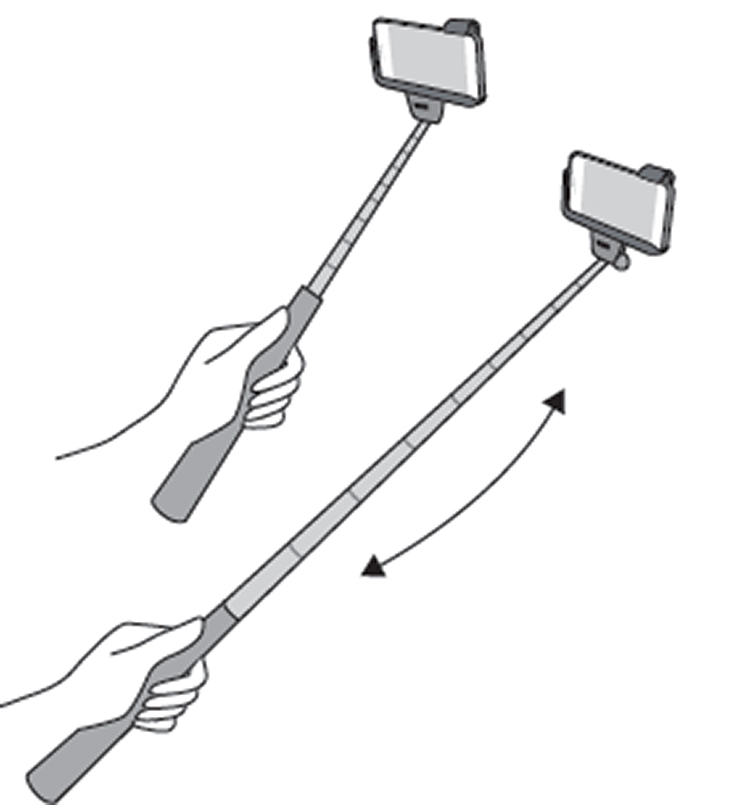 Wireless selfie Stick (black) - Image  #2tutu