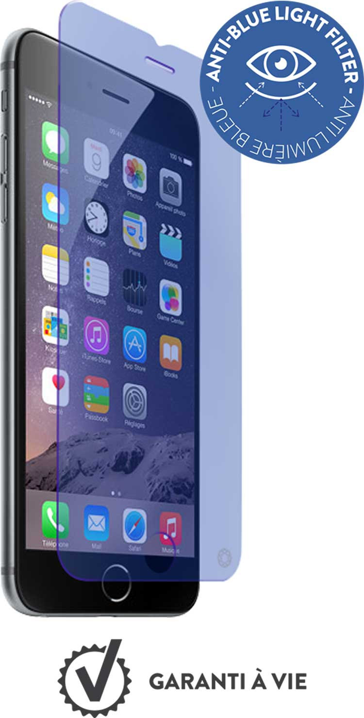 The tempered glass screen protector FORCE GLASS with fitting kit (light blue) - Packshot