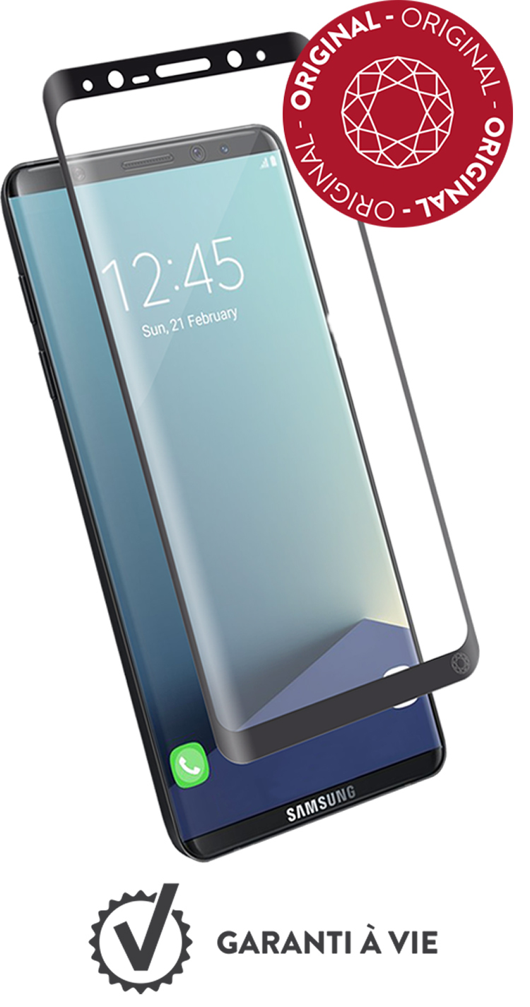 The tempered curved glass screen protector FORCE GLASS with fitting kit - Packshot