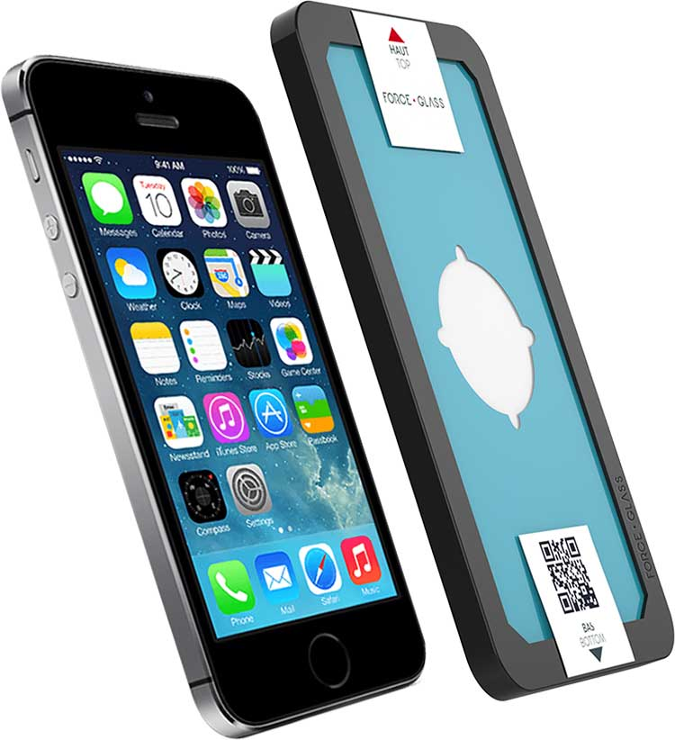 The tempered glass screen protector FORCE GLASS with fitting kit - Image  #1