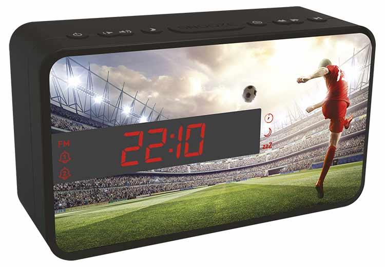 Dual alarm clock (football) - Image