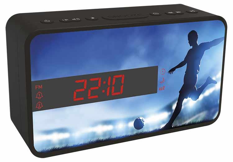Dual alarm clock (football) - Image  #2tutu#4tutu