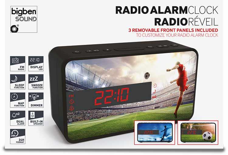 Dual alarm clock (football) - Image  #2tutu#4tutu#5