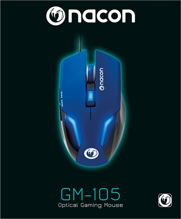 Nacon Optical Mouse (Blue) - Image  #1