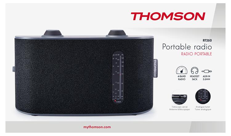 Portable radio 4 bands (black) RT250 THOMSON - Image  #2tutu#3