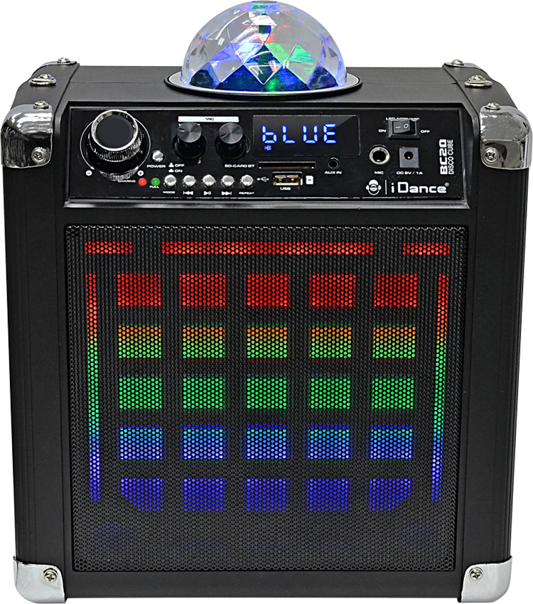 Wireless Bluetooth karaoke system with built-in light show BC20 I DANCE - Packshot