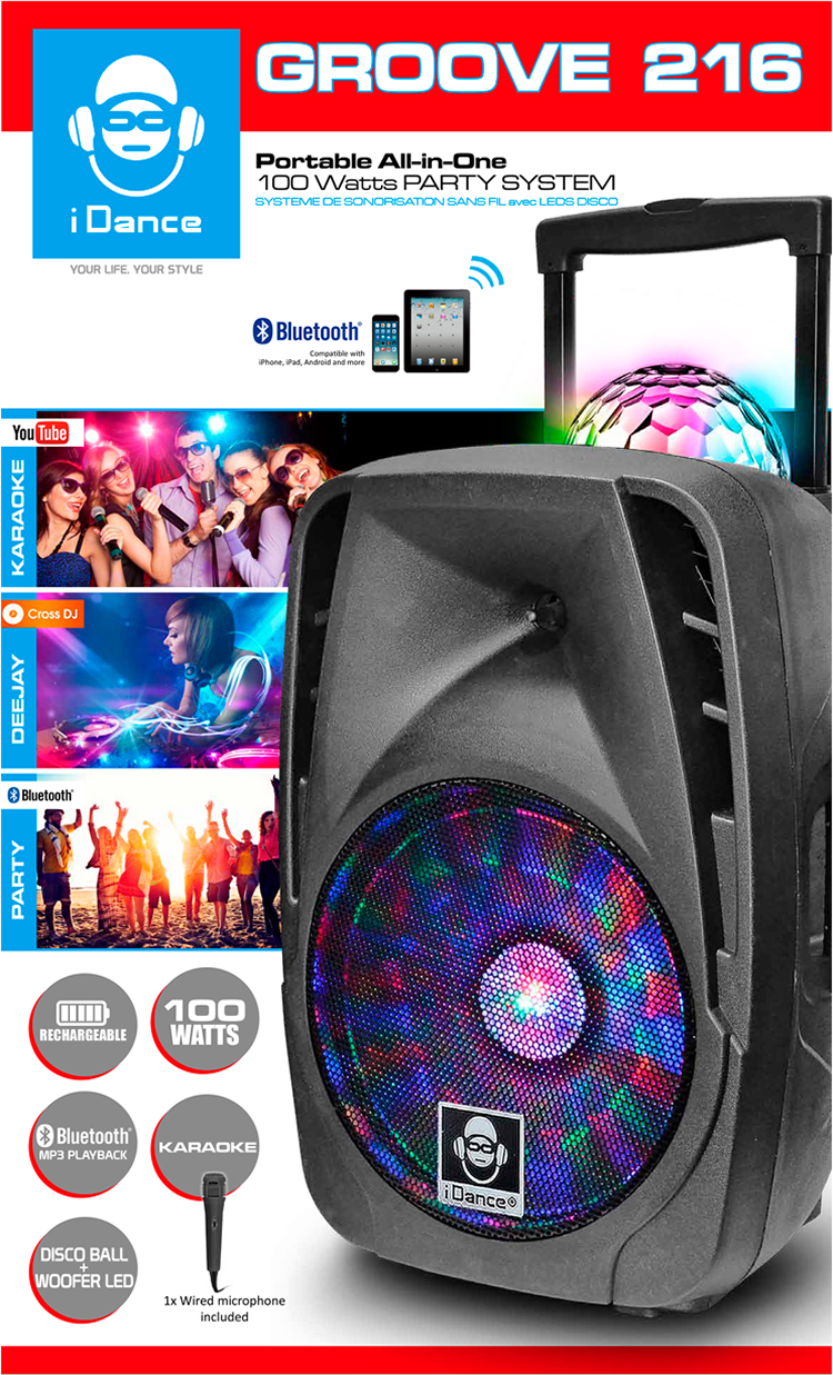 Bluetooth sound and light system GROOVE216 I DANCE - Image  #1