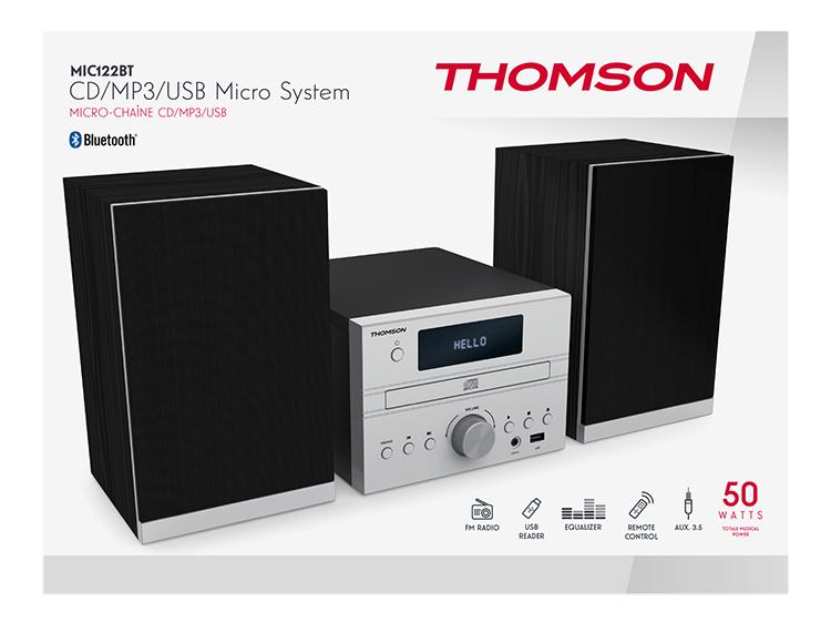 CD/MP3/USB Micro system MIC122BT THOMSON - Image  #2tutu