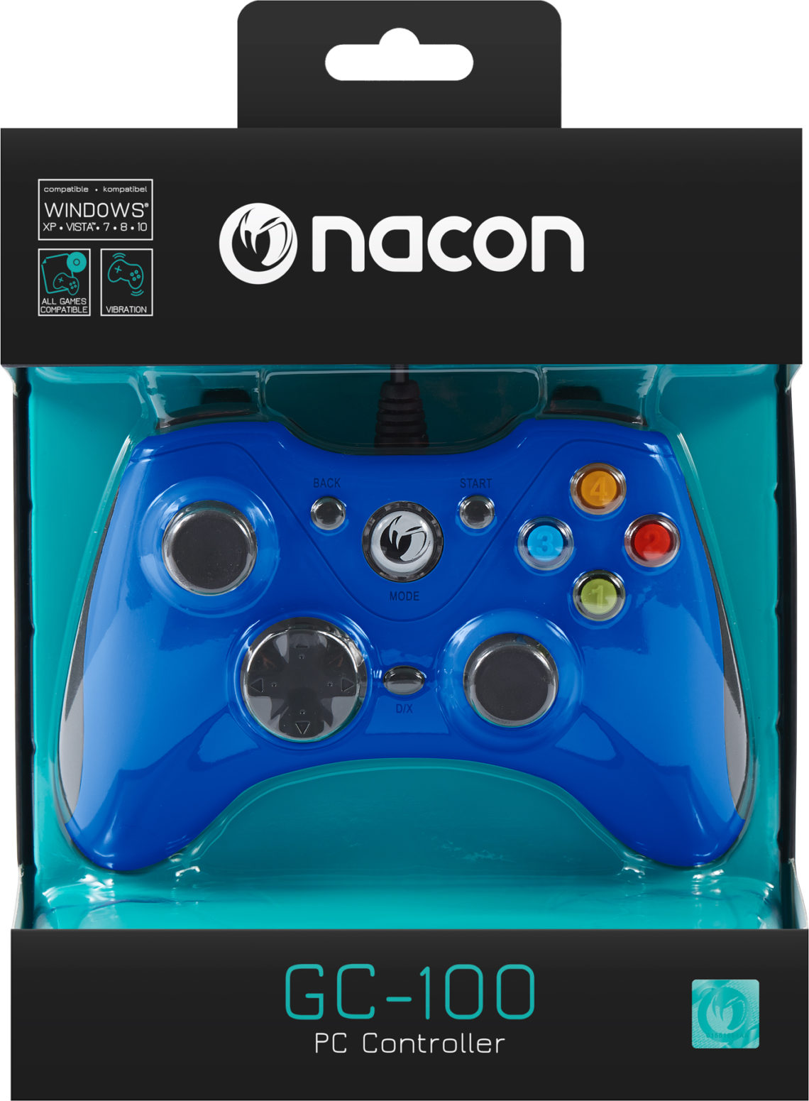 NACON PC Game Controller (Orange) PCGC-100BLUE - Image  #2tutu