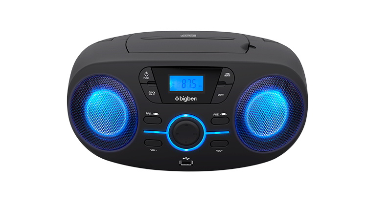 Portable CD/USB player with light effects CD61NUSB BIGBEN - Packshot