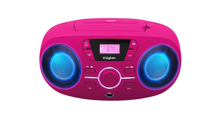 Portable CD/USB player with light effects CD61RUSB BIGBEN - Packshot