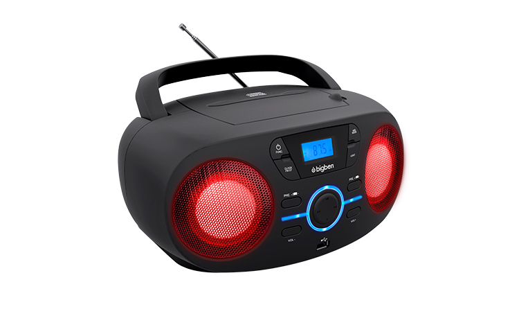 Portable CD/USB player with light effects CD61NUSB BIGBEN - Image