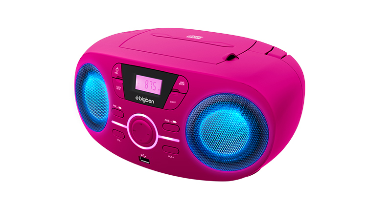 Portable CD/USB player with light effects CD61RUSB BIGBEN - Image  #1