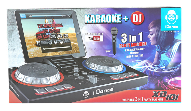 Portable karaoké/Deejay 3-in1 party station XD101 I DANCE - Image  #2tutu#3
