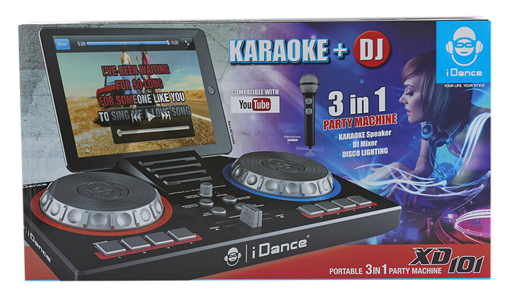 Portable karaoké/Deejay 3-in1 party station XD101 I DANCE - Image  #2tutu#4tutu