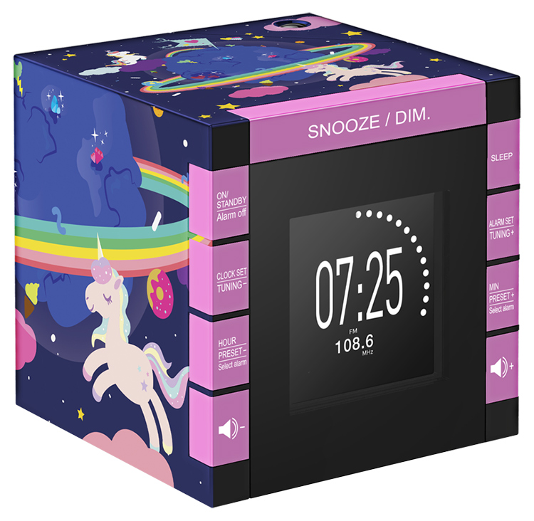 Dual radio alarm clock with projector RR70PUNICORN BIGBEN KIDS - Packshot