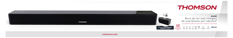 Soundbar with wireless induction* charging for mobiles SB160IBT THOMSON - Image