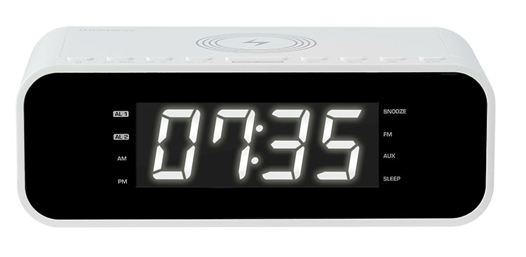 Clock radio with wireless charger CR221I THOMSON - Image
