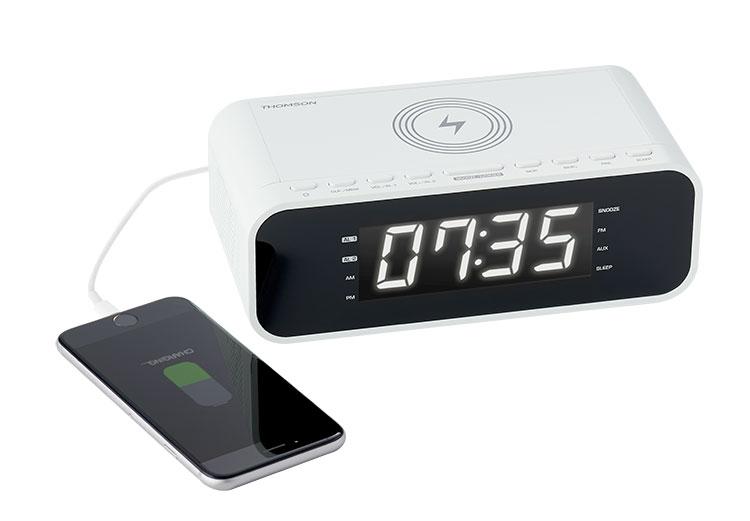Clock radio with wireless charger CR221I THOMSON - Image  #2tutu#4tutu