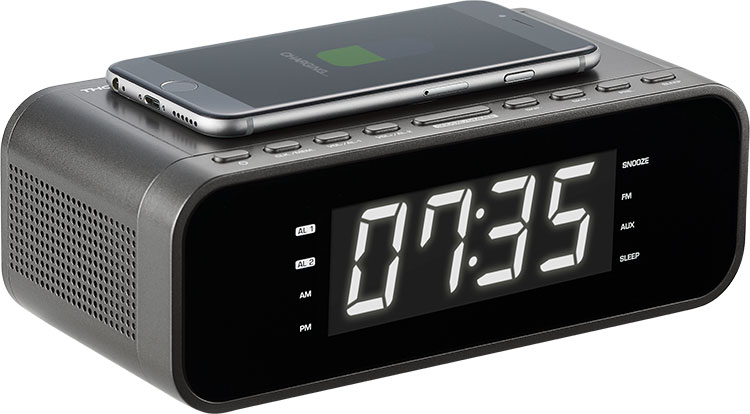 Clock radio with wireless charger CR225I THOMSON - Image  #2tutu