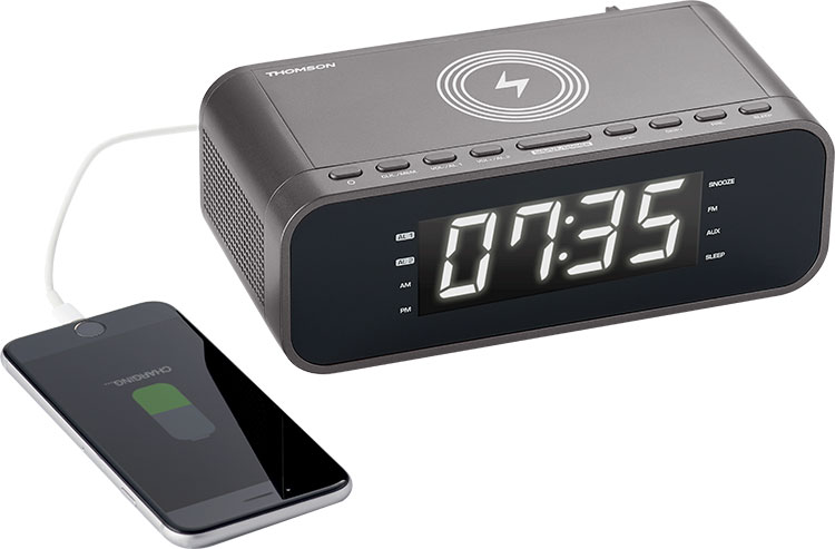 Clock radio with wireless charger CR225I THOMSON - Image  #2tutu#4tutu
