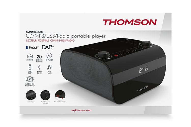 CD/MP3/USB/RADIO portable player RCD305UDABBT THOMSON - Image  #1