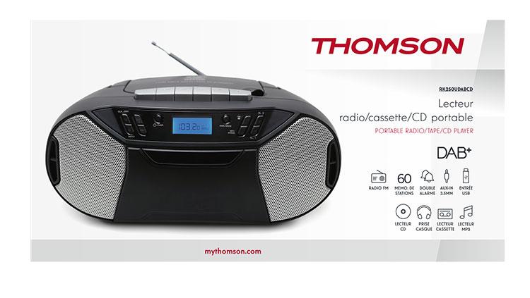 Portable radio tape/CD/DAB+ RK250UDABCD THOMSON - Image  #1