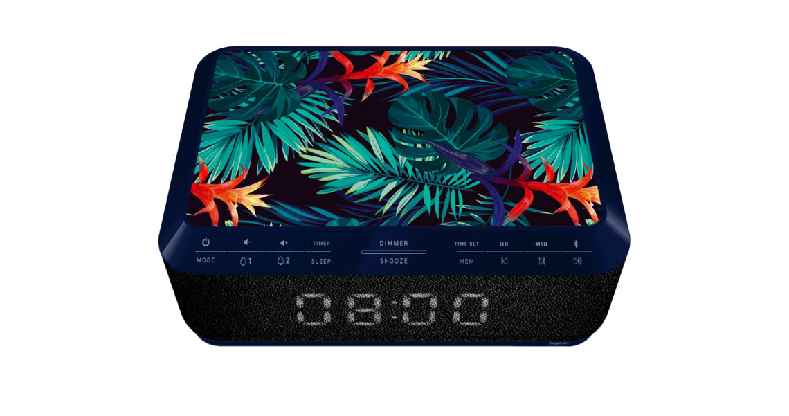 Clock radio with wireless charger RR140IJUNGLE BIGBEN - Image  #1